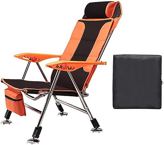 CCDZDM Chaise De Camping, Chaise De Pêche Extérieure Multifonctionnelle, Pliage Portable avec Sac De Transport, Parfait pour Jardin Camping Voyage Pêche, A