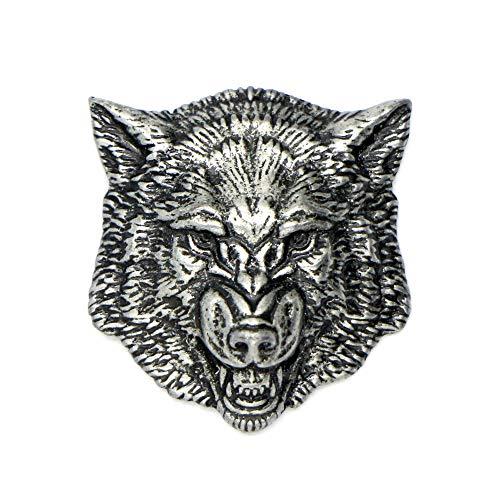 Abzeichen Anstecker Brosche Wolf Pewter Lapel Pin Wolf das Accessoires für die Liebhaber der Tiere Jagd und Angeln Geschenk für Männer und Frauen