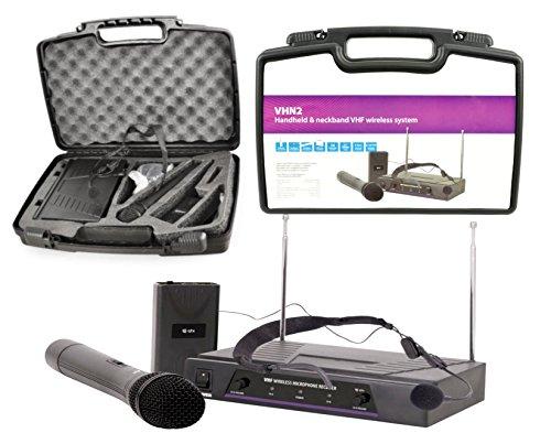 RadioMicrofoni QTX Wireless Kabellos 1 x Kopfbügelmikrofon + 1 Eiscreme-Mikrofon + 1 Empfänger + Koffer