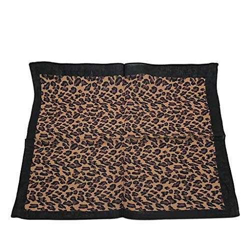 QingqingRBohemian Vintage Leopard Tiger Print Unisex algodón Turbante Hip Hop Hip Hop pañuelo Turbante