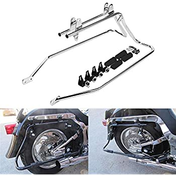 Open Box Saddlebag Supports For 1984-Present Harley Davidson Softail BLACK