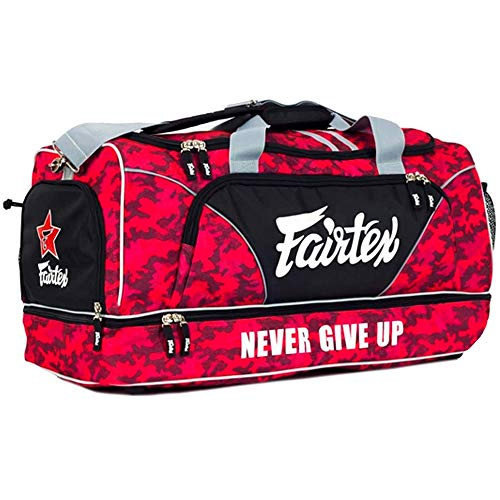 Fairtex Gym Bag Bag-2 Red Gear Equipment Muay Thai Kickboxing MMA K1