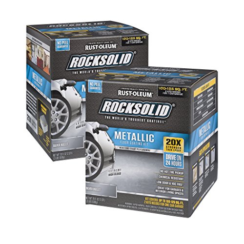 Rust-Oleum RockSolid Silver Bullet Metallic Garage Floor Kit - 2 Pack