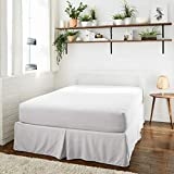 Wyndon Bamboo King Size Fitted Sheet   Extra Deep Pockets   Soft and Silky Fitted Sheet with Bamboo Woven Material   Cool and Breathable (King, White)