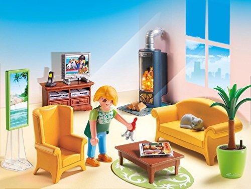 Ensemble Salon avec Foyer au Bois Playmobil - 5308 - 1
