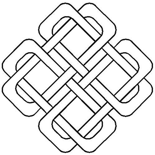 Quilting Creations Celtic Squared Design Quilt Stencil, 7'