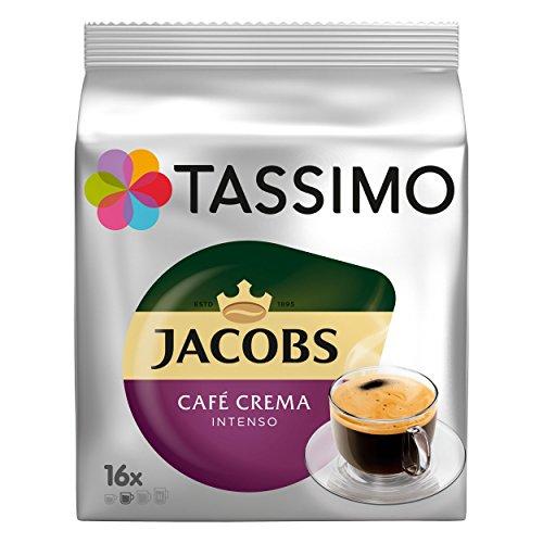 Tassimo Jacobs Caffè Crema Intenso, Kaffee, intensiv & kräftig, 16 T-Discs