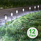 Easy To Install: Remove the isolator tab under the cap and push the stake into the soil. The solar path lights automatically turn on at night and turn off at dawn! High quality stainless steel light design. Clear plastic lens provides pretty light ef...
