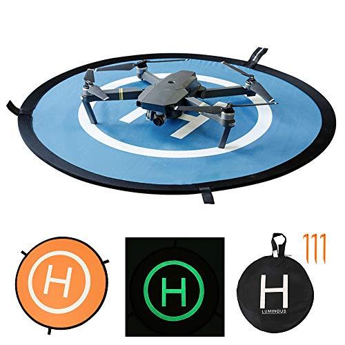 BOTTLEWISE Drone Landing Pad, Universal Waterproof D 75 cm / 30 \'\' Pads portátiles de Aterrizaje Plegables para RC Drones Helicopter, PVB Drones, dji Mavic Pro Phantom 2/3/4 Pro, Antel Robotic (75cm)