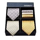 (ヒスデン) HISDERN メンズ 洗える ネクタイ ハンカチ 3本 セット 収納BOX 付き ビジネス結婚式 就活 プレゼント 様々なセットを選べる TB3002