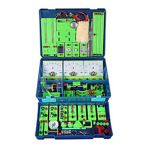 ZDSKSH Kit De Circuito De Aprendizaje De Laboratorio De Ciencias De Física, Juego De Experimentos De Electricidad, Circuitos De Construcción para Niños Estudiantes De Secundaria Y Preparatoria