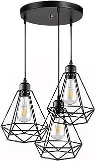 lamparas de techo vintage salonCage decoracion del salon, comedor, restaurante,E27[Clase de eficiencia energética A+]