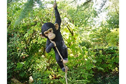 Mobili Checklist Arrampicata Scimmia Giardino Ornamento Resina Albero Decorazione Negozio Mascotte Animale Figura Statua H55cm x W23cm x P15cm