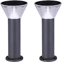 Two Garden lights-IP54 Waterproof LED5v4.5w Solar Lawn lamp Aluminum Rust Outdoor Garden Decoration