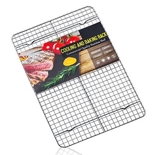 Estmoon Cooling Rack Stainless Steel, Cooling Racks for Baking, 16.5 Inch Cooling Rack Oven Safe,Heavy Duty Wire Rack Oven Rack for Cookies,Cooking,Roasting,Grilling,Drying,Dishwasher Safe