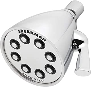 Speakman S-2251 Signature Icon Anystream Adjustable High Pressure Shower Head - 2.5 GPM Solid Brass Replacement Bathroom Showerhead, Polished Chrome (Renewed)