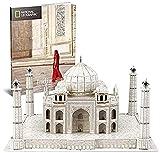 WWWL Bloques de Construcción Taj Mahal 3D Puzzle, National Geographic DIY Building Model Jigsaw City Puzzle, Rompecabezas Educativo para niños, Presente (87 Pcs)