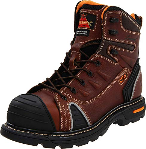"Thorogood 804-4445 Men's GEN-flex2 Series - 6"" Cap Toe, Composite Safety Toe Boot, Brown - 11.5 M US"