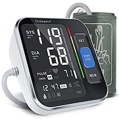 """Blood Pressure Machines For Home Use - Blood Pressure Monitor For Upper Arm Blood Pressure Cuff 8.7""""-15.7"""", Backlight Display & HR Detection, with Carrying Case for Adult & Pregnancy"""