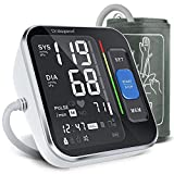 Dralegend Blutdruckmessgerät Oberarm,Digitales Blutdruckmessgerät mit Arrhythmie-Erkennung,Manschette(22-40cm),Großes Display und 2*120 Speicherplätz