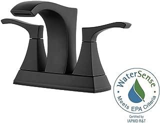 Pfister LF-048-VNBB Venturi 4 in. Centerset 2-Handle Bathroom Faucet Matte Black
