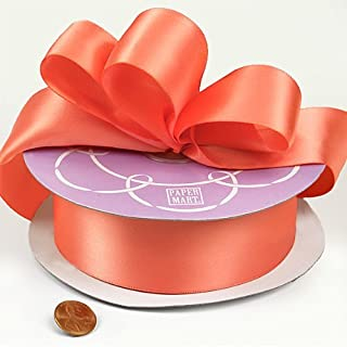 Light Coral Double Face Satin Ribbon, 1-1/2