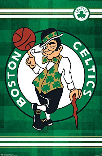 Trends International NBA Boston Celtics - Logo 14 Wall Poster, 14.725' x 22.375', Premium Unframed Version