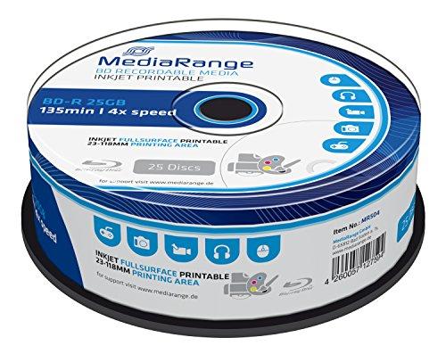 MediaRange MR504 Disco BLU-Ray Lectura/Escritura (BD) - BD-RE vírgenes (4X, Caja para Pastel)