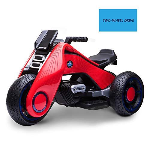Motocicleta Eléctrica para Niños, Motociclismo Eléctrico para Niños con Batería para Unisex en Motocicleta Coche de Juguete Jardín al Aire Libre, Ruedas Ligeras