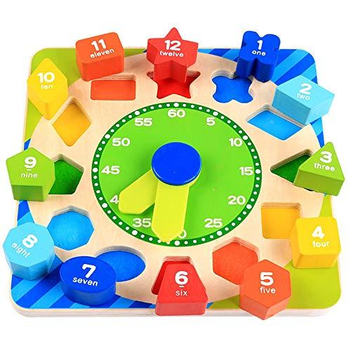 Bouwstenen Kinderen educatief speelgoed Digital cognitieve kralen van kinderen houten vorm kleurcode strings klok Oefening Hands-on en Vaardigheden van de Hersenen