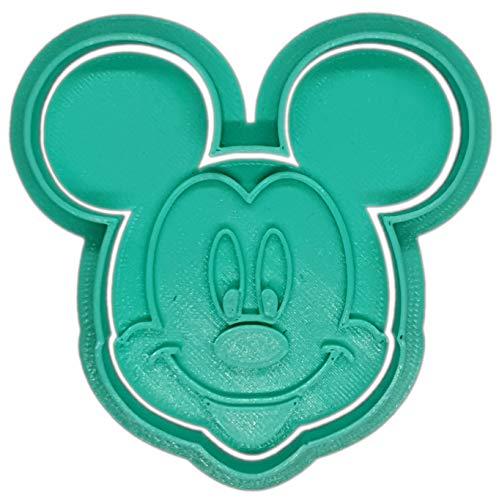 Molde Cortador de Galletas - Dibujos Animados Disney – Mickey Mouse (Turquesa)