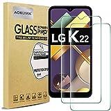 AOKUMA Cristal Templado LG K22, [2 Unidades] Protector Pantalla para LG K22 Robusto Antiarañazos Antihuellas con Borde Redondeado Dureza 9H+ Antiburbujas