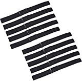 PIESOYRI 10 PCS Elastic Bands for Wigs 14 x 1 Inches, Adjustable Straps for Wigs and Wig Making, Non Slip, Glueless, Steady, Wig Elastic Bands, Wig Making Kit