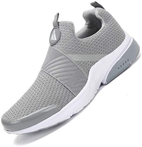 Zapatillas Running para Hombre Gimnasio Zapatos Deporte Antideslizante Liviano Deportivas para Correr Trail Gris 43 EU
