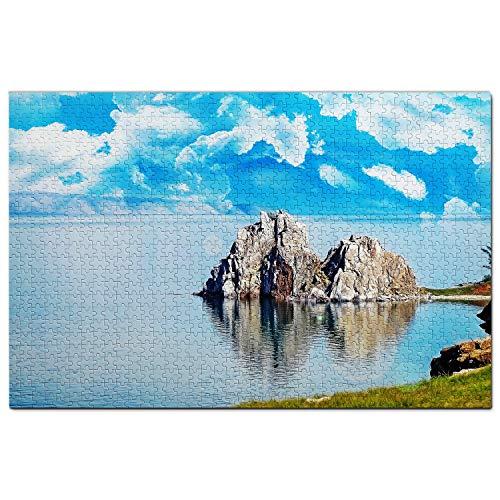Rusia Lago Baikal Irkutsk Puzzle 1000 Piezas para Adultos Familia Rompecabezas Recuerdo Turismo Regalo