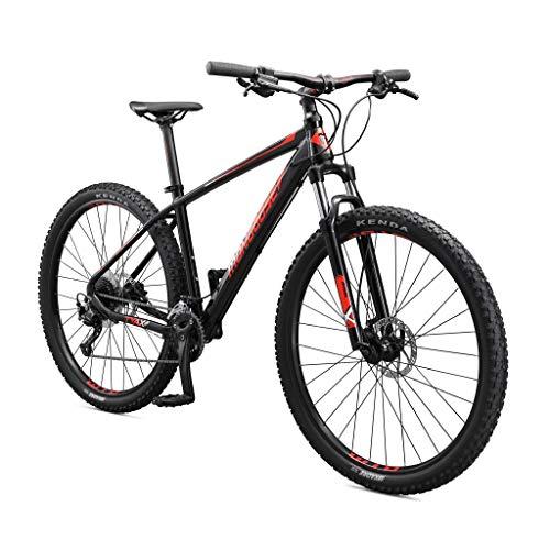 Mongoose Tyax Sport Adult Mountain Bike, 29-Inch Wheels, Tectonic T2 Aluminum Frame, Rigid Hardtail, Hydraulic Disc Brakes, Mens Small Frame, Black