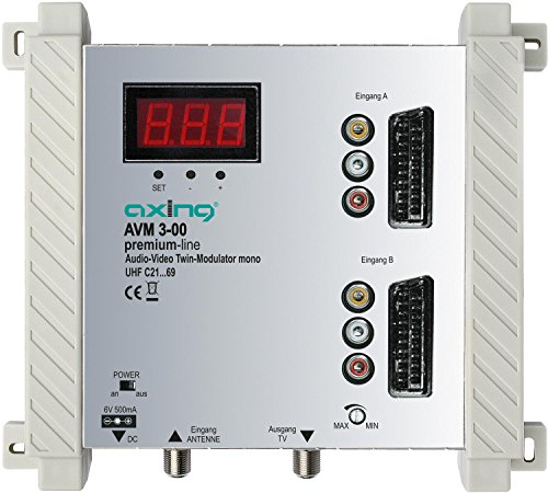 Axing AVM 3-00 Twin Audio-Video-Modulator UHF mono für 2 Kameras