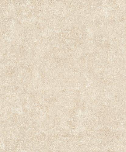 rasch Tapete 467543 aus der Kollektion Vincenza – Vliestapete in Beige im Beton-Design – 10,05m x 53cm (L x B)