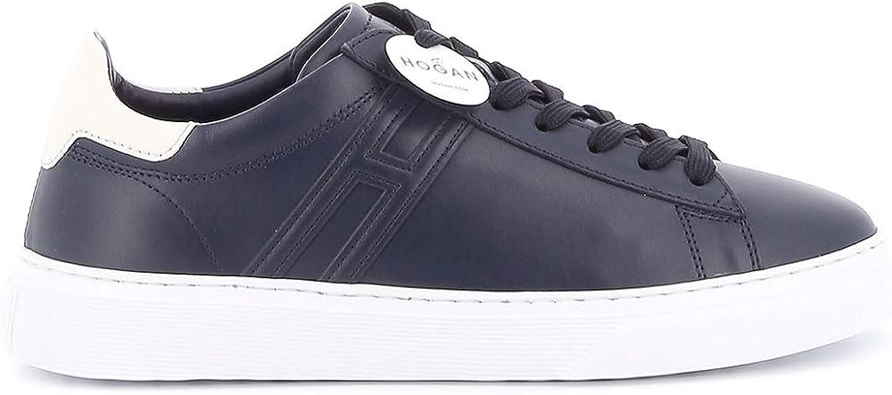 hogan sneakers casual da uomo in pelle hxm3650j960kfn