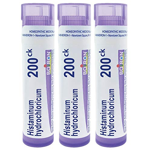Boiron Histaminum hydrochloricum 200ck, 80 pellets, homeopathic Medicine for Allergies, 3 Count