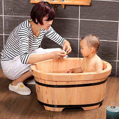 Badkuip van cederhout voor baby's, badkuip van massief hout voor kinderen, gezondheid en milieuvriendelijk, voetenbad