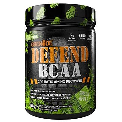 Grenade Defend BCAA Powder, Green Apple, 390 g (7 g BCAA's Per Serving - 30 Servings Per Tub)