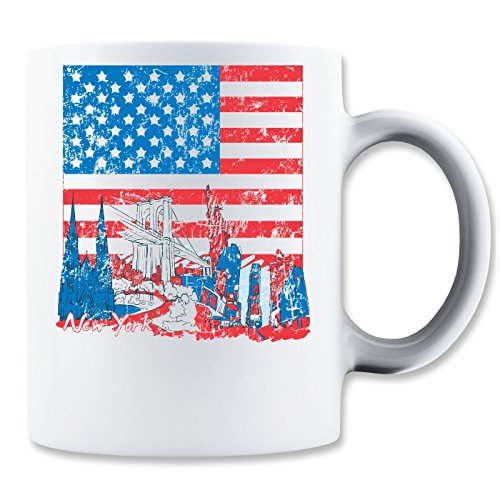Go To New York American Flag Design Klassieke theekop koffiemok