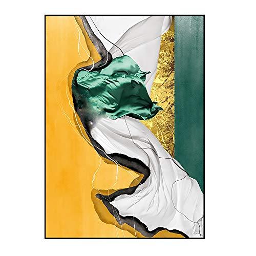 ZHQHYQHHX Wand-Kunst-Malerei Moderne minimalistische Wohnzimmer Schlafzimmer Veranda Dekorative Licht auf die Leinwand Luxuxgold Foil Abstrakt Multi-Color-Korridor Malerei Hängende Malerei