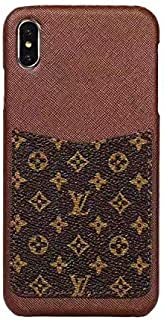 Small Monogram - New Elegant Luxury Designer PU Leather Classic Style Protective Case Cover Anti Scratch Drop Protection for Apple iPhone (iPhone 6/6s/7/8 Plus)