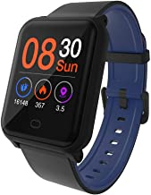 Hoteon Color Screen Fitness Watch, IP67 Waterproof Smart Activity Tracker with Heart Rate Monitor,Pedometer,Calorie Counter,Sleep Monitor, SMS/SNS Alert H706 (Blue)