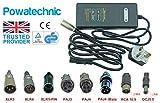 Powatechnic LiFePO4 Chargeur de Batterie Lithium Li-ION 36 V/42 V 2 A pour vélo électrique, Scooter, Fauteuil Roulant, Chariot de Golf XT90 Noir