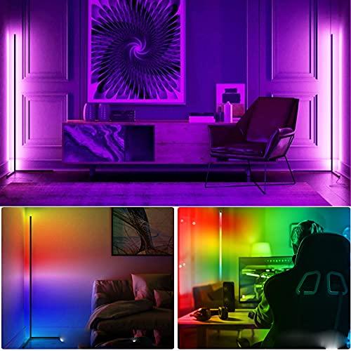 Lampadaire LED à Intensité Variable avec Télécommande Salon Fête Luminosité Réglable Lumière d Atmosphère à Changement Couleur Minimaliste pour Chambre à Coucher de Salon,RGB Clairage Décoratif Lampe