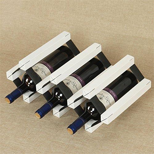 Application de décoration murale Casier à vin de 5 bouteilles - Étagère à vin multi-fonctions en bois massif Racks pour étagères (Couleur : Blanc)