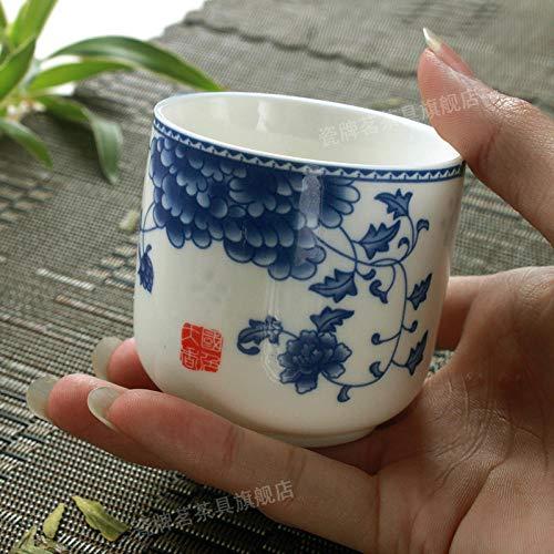 Tazasdecafétazasdedesayunotazasdecafé Taza De Porcelana Azul Y Blanca, Una Taza De Jarra De Cerveza.